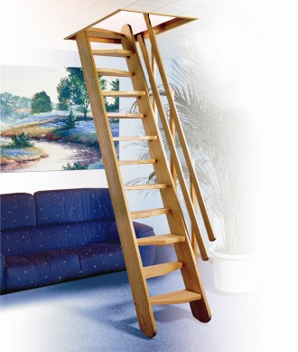 Houten ladder zolder